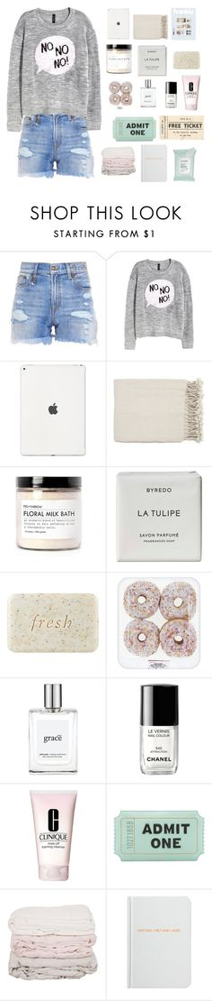 """""""i don't even know what i am doing..."""" by hesterstan ❤ liked on Polyvore featuring R13, H&M, Surya, Fig+Yarrow, Byredo, Fresh, philosophy, Chanel, Clinique and Kate Spade"""