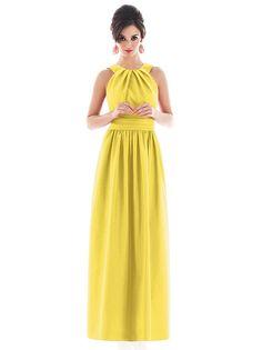 long yellow bridesmaid dress