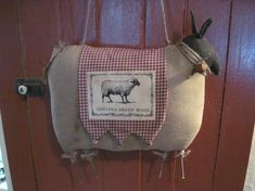 Primitive Sheep Prim Sheep Wool Sheep Door by RavenwoodWhimzies, $33.95