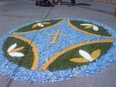 San Tirso de Abres-Alfombras florales de las fiestas Corpus Christi