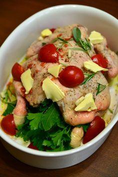 Ez csak egy egészben sült csirke – és néhány ötlet az ünnepekre… | Caprese Salad, Food, Eten, Meals, Diet