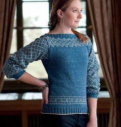 Ravelry: Tilghman Island Pullover pattern by Courtney Kelley. Lovelovelovelovelove this sweater and I'm making it asap!