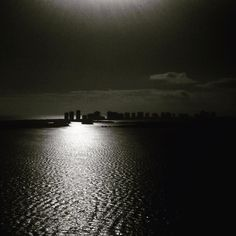 Everyone is a moon and has a dark side which he never shows to anyone. Mark Twain . . . #moonlight #moon #light #reflection  #palmbeach #florida #water #atlantic #ocean #night #sea #seascape #nightphotography #blackandwhite #blackandwhitephotography #bw #bnw