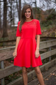 The Rissa Dress, Red - The Mint Julep Boutique
