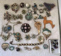 VTG Jewelry Lot 42 Piece Repair Craft Repurpose Broken Wearable 1 Lb See Details