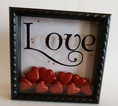 Valentine's Day shadow box! Place heart in for every valentine's spent together