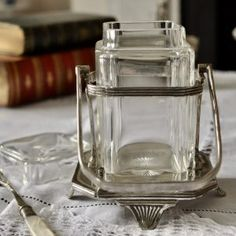 その他の銀食器  Archives * ラブアンティーク Love Antique of London Glass Jars, Mason Jars, London, Mugs, Antiques, Tableware, Antiquities, Glass Pitchers, Antique