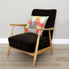 Modoo Home Dara Mid Century Upcycled Armchair (£524) ❤ liked on Polyvore featuring home, furniture, chairs, accent chairs, mid century modern furniture, mid century armchair, mid century arm chair, mid-century modern furniture and midcentury modern chair