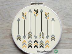 cross stitch pattern arrows arrows native PDF par Happinesst