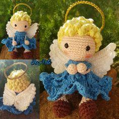 Christmas Crochet Patterns, Crochet Animal Patterns, Crochet Patterns Amigurumi, Amigurumi Doll, Crochet Dolls, Knit Crochet, Crochet Angel Pattern, Crochet Angels, Crochet Butterfly