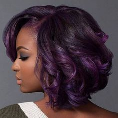 #hairinspiration My favorite! I love the blending of the darker and lighter plums with medium brown and the curl is perfect!!@macleantemu.