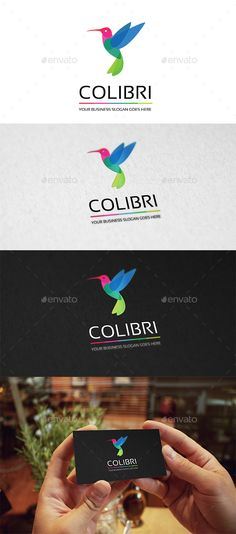 Colibri Logo — Transparent PNG #exclusive #colorful • Available here → https://graphicriver.net/item/colibri-logo/18503512?ref=pxcr