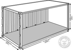 Learn how much hardwood decking can be loaded into a shipping container. Decking container loads of & dimensions. Container House Price, Cargo Container Homes, Container Buildings, Container House Design, Container Van, Shipping Container Dimensions, Shipping Container House Plans, Tiny Mobile House, Tiny House