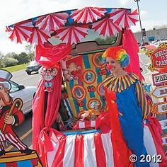 Carnival Trunk or Treat Car Decorations, Party Decoration and Favor Ideas, Party Themes & Events - Oriental Trading Holidays Halloween, Halloween Crafts, Halloween Decorations, Happy Halloween, Halloween Party, Halloween Ideas, Halloween Carnival, Wall Decorations, Fall Carnival