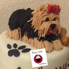 pastel Cachorro de fondant