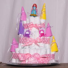How to Make a Diaper Castle Cake for a Girl