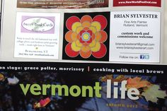 My most recent ad in Vermont Life.  Please visit my main site to see more:  http://www.briansylvesterart.com/