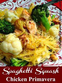A Healthy Makeover: Spaghetti Squash Chicken Primavera