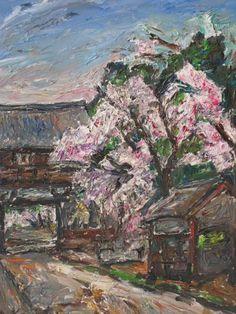 小西安夫 「桜」 (1976年) 油彩6号