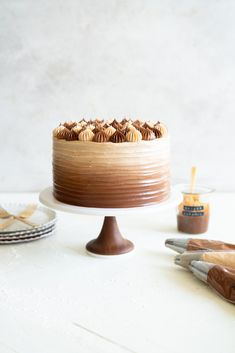 Apple Cider Layer Cake with Spiced Salted Caramel Swiss Meringue Buttercream — Cloudy Kitchen Cupcakes, Cupcake Cakes, Cupcake Recipes, Dessert Recipes, Different Types Of Pie, 3 Layer Cakes, Biscuits, Caramel Buttercream, Chocolate Swiss Meringue Buttercream