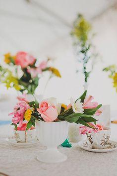 Brides: Bud Vase Wedding Centerpieces