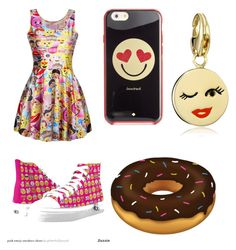 """Emoji Emoji"" by qfs-skins ❤ liked on Polyvore featuring mode et Kate Spade"