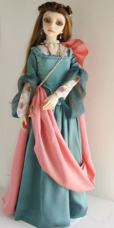 1/3 Scale version of Elizabeth Dancing Dress for BJD Commissioned 2009, created by BrokenHeartTart