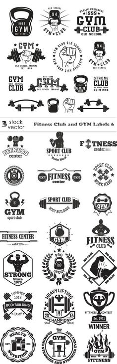 Vectors - Fitness Club and GYM Labels 6