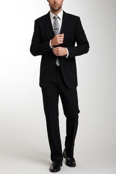 Solid Black Suit by Giorgio Armani Uomo