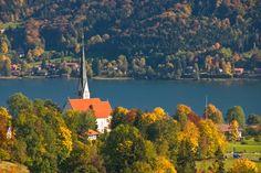 ღღ Kirche Bad Wiessee, Bavaria/Germany ~~~~  Eingebettet in die herbstliche Landschaft am Tegernsee ist die katholische Kirche Mariä Himmelfahrt in Bad Wiessee.