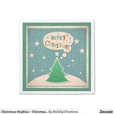Christmas Napkins - Christmas Tree