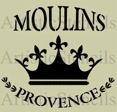 STENCIL French Moulins de Provence with Royal by ArtisticStencils, $12.00