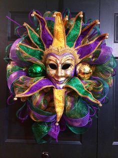 Jester Mask Mardi Gras