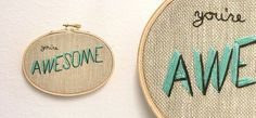 // embroidery awesomeness