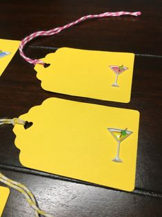 Yellow Martini tags, Purple Martinis gift tags Colorful Martini Favor Tags cute bachelorette party bridal shower Martini lover - 5/order Favor Tags, Gift Tags, Blue Yellow, Purple, Orange, Pink, Party Food Labels, Martinis, Colour List