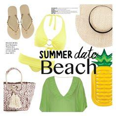 """Summer Date: The Beach"" by sanddollardubai ❤ liked on Polyvore featuring ViX, Melissa Odabash, Whiteley, Havaianas, beach and summerdate"