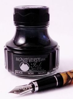 Bottle Ink for Monteverde Fountain pens - Black – Rogue Journals