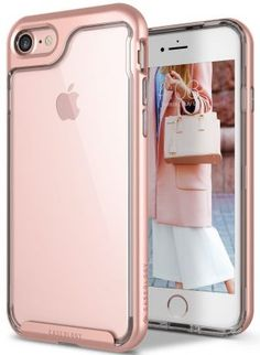iPhone 7 Case, Caseology [Skyfall Series] Transparent Clear Cover Drop Protection PC Frame [Rose Gold] [Slim Cushion] for Apple iPhone 7 Best Iphone, Apple Iphone, Iphone 7 Screen Protector, Gold Girl, Skyfall, Iphone 8 Cases, Tempered Glass Screen Protector, Cover, Rose Gold