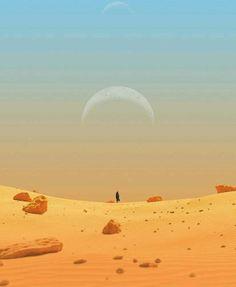 Desert Environment, Environment Concept Art, Dune Art, Quilt Art, Sci Fi Books, Animation Background, 3d Modeling, Bright Stars, Sci Fi Art