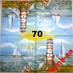 Serwetki do decoupage-2szt-MORSKIE- NR 70