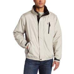 IZOD Men's Fleece Lined Bomber Jacket,Sand,XX-Large (Apparel)