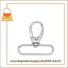 2 Pack RNG-AA401 25 mm Slot and Hole Loop Buckle 1 Purse Handbag Hardware 1 Inch Triangle Double Ring Shiny Nickel Finish