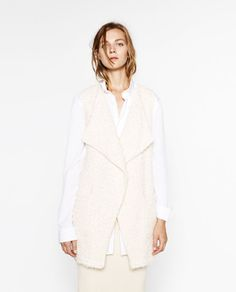 Image 2 of WAISTCOAT WITH BELT from Zara