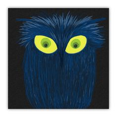 The Blue Owl Wood Print  - By Michelle Brenmark / #OneArtsyMomma $26.00+
