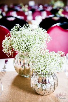 Mariage - Wedding vase avec gypsofil
