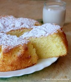 gluten-free yogurt cake – About Healthy Desserts Gluten Free Cakes, Gluten Free Baking, Vegan Gluten Free, Gluten Free Recipes, Sem Lactose, Lactose Free, Healthy Desserts, Dessert Recipes, Tortillas Veganas