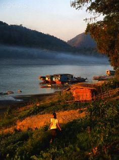 Luang Prabang, Mekong river - Laos