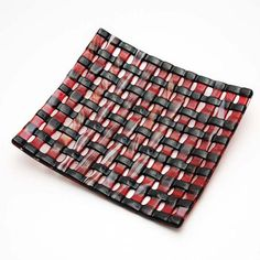 Weaved Fused Glass Asian Style Dish - by gilsglassdesigns. Delphi Artist Gallery