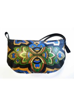 Talk about skill! This hand-painted leather purse is a keeper! By Ponko World @76Hudson