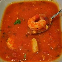 Shrimp and Scallop Soup with Tomatoes and Basil